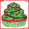 tree shaped colorful metal tin box for christmas