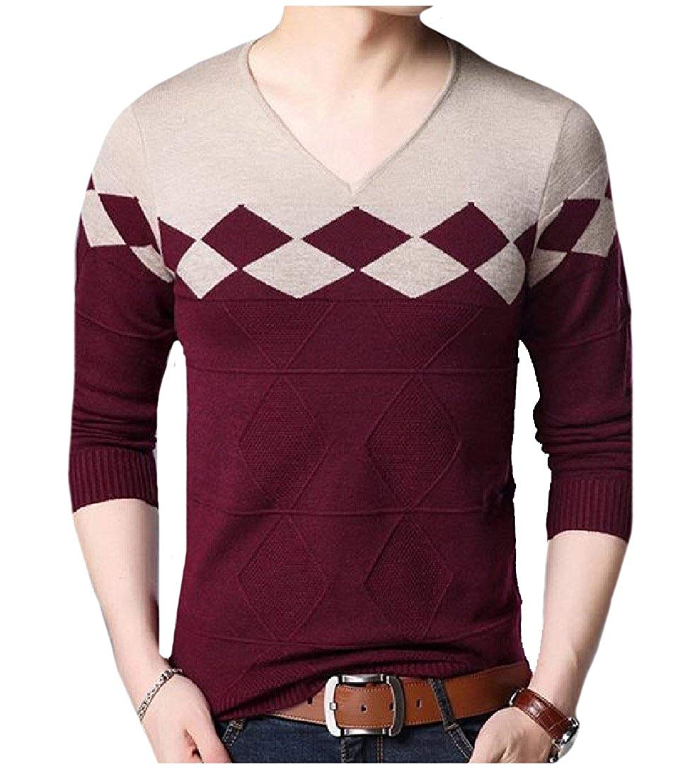 Coolred-Men Wild V Neck Fashionable Autumn Essential Sweaters Jersey