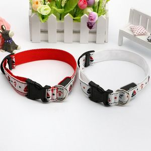 Factory pet accessory supply free sample led dog collar for dogs cats polyester webbing led dog collar