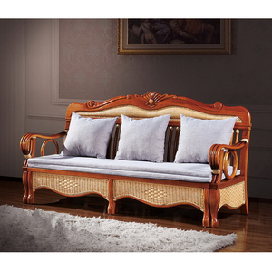 Rattan Sofa Bed Furniture Wicker Rattan 3 Seat Sofa Bed S67SFC