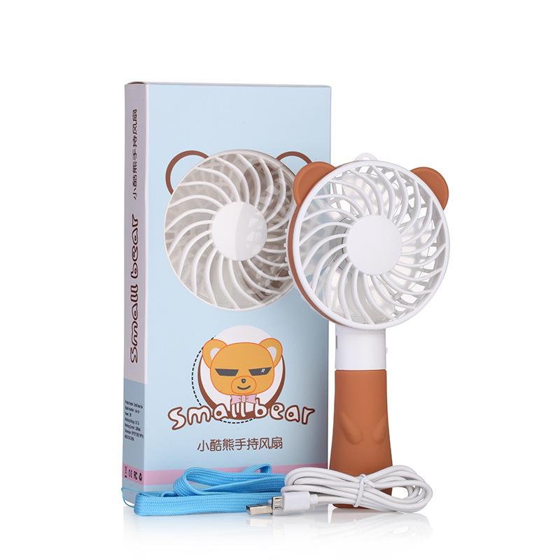 Bear Rabbit Handy Mini Portable Fan Camping Small Handheld USB Rechargeable Battery Electric Cooling Mini Fan