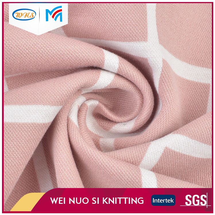 Attractive price knitted chenille fabric jacquard for bedding