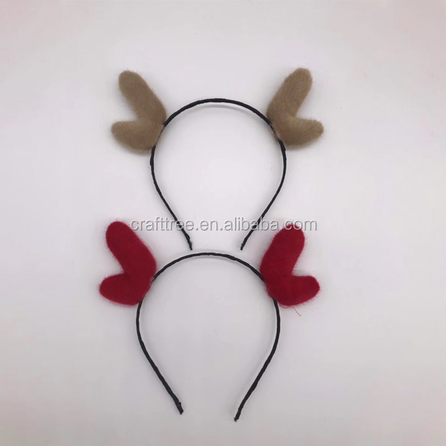 Cheap Merry Christmas Red Felt girl Headband Wholesale Party Favor