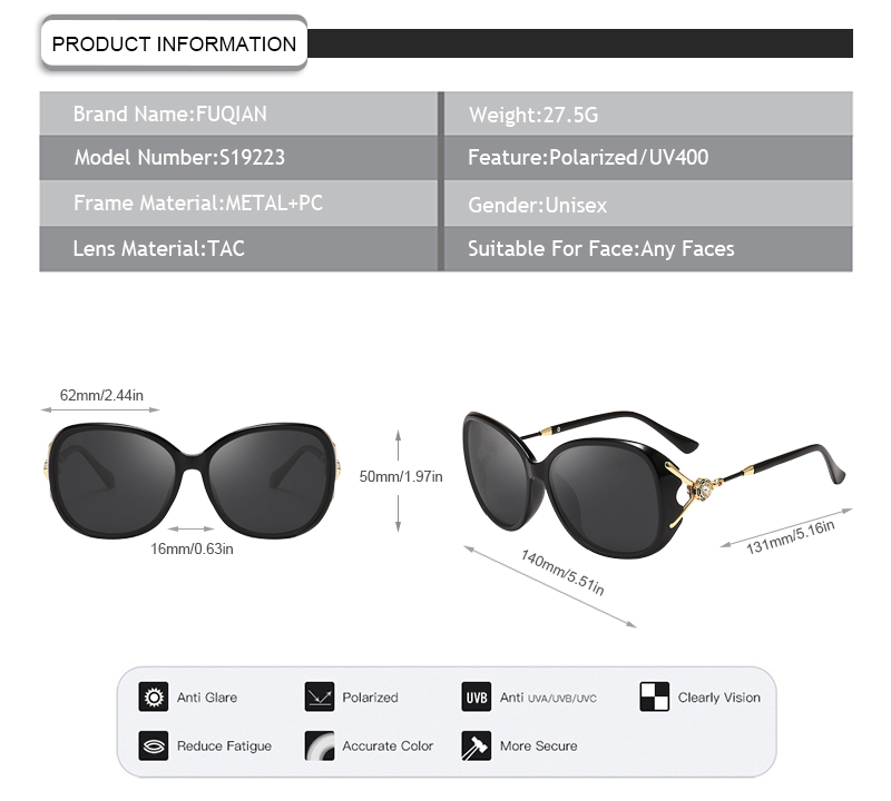 Fuqian stylish sunglasses for ladies factory for women-7