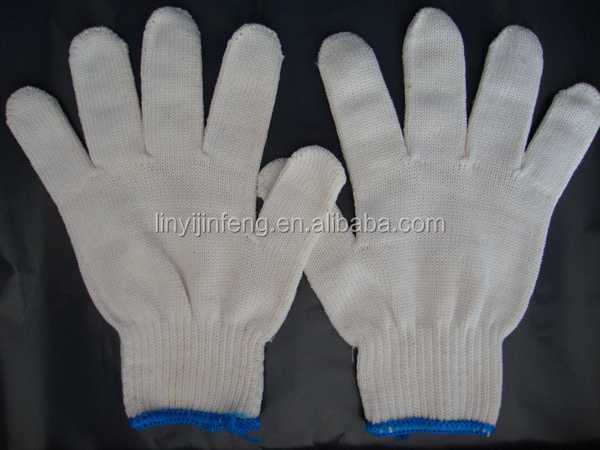 high quality 40g raw white industry cotton working <strong>gloves</strong>