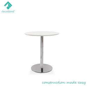 Round stainless steel coffee table living room furniture