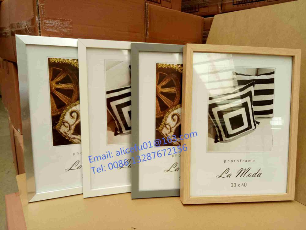 Cheap Simple Black And White Mdf Wooden Photo Picture Frame 10x15 ...