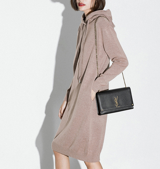 P18B30TR 100% cashmere ladies sweater long sleeve hooded dress