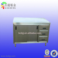 modern stainless steel kitchen cabinet