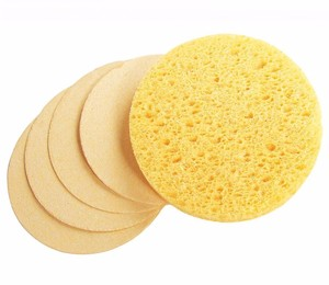 Chinese suppliers professional skin care high absorbent bath cellulose sponge for baby