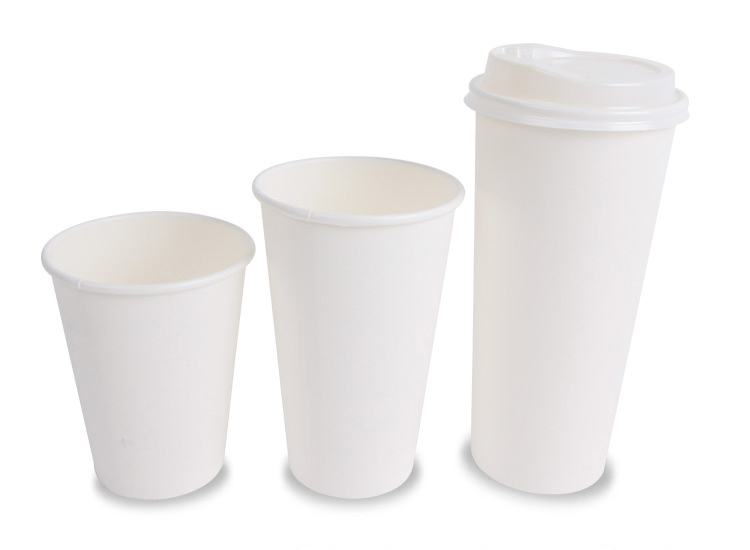 Plain White Paper Cup Diffe Sizes Coffee Cups Biodegradable Unprinted Hot