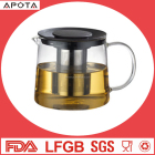 Multiple Heat Resistant Glass Teapot coffee pot With Sepcial On-off Button Lid JMHF083B
