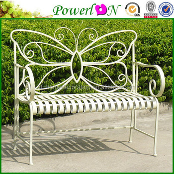 Sale Antique Folding Wrought Iron Butterfly Shape Outdoor Bench For Outdoor  Garden Backyard I24M TS05 X11B