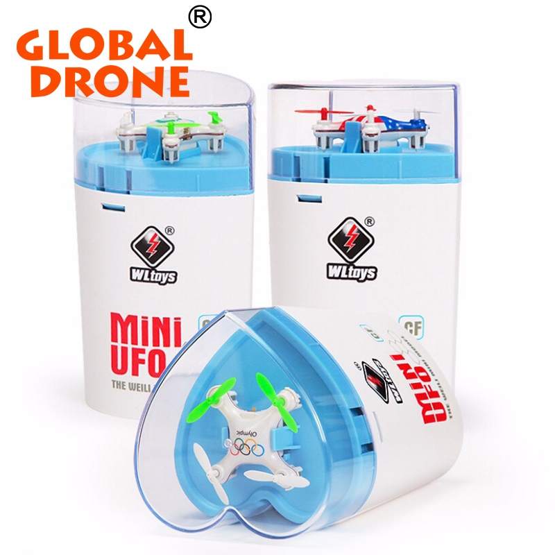 WL 676-A Super Mini Rc drone 2.4G 4CH 6 Axis Gyro Headless mode 3D roll Sweet Heart package for kids Gift Helicopter quadcopter
