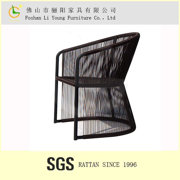 Made in china fashion design outdoor and indoor use chinese furniture manufacturers, black waterproof cushion for rattan chair