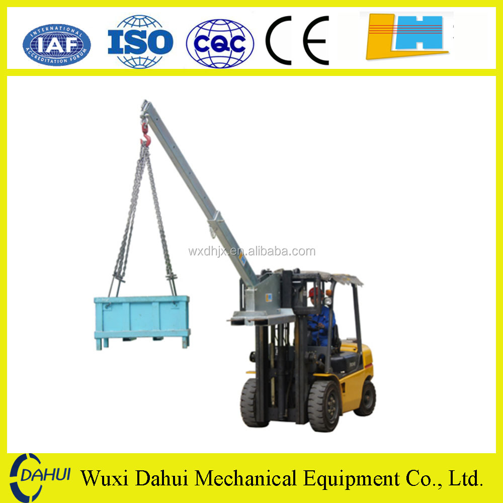 Longhe floor price forklift crane jib attachments in stock