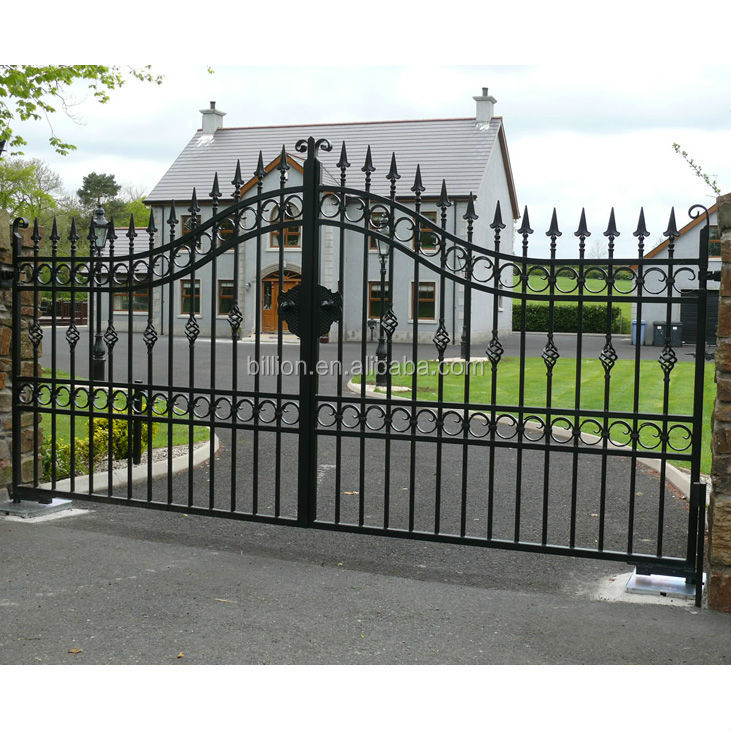 New Style Wrought Iron Steel House Gate Designs