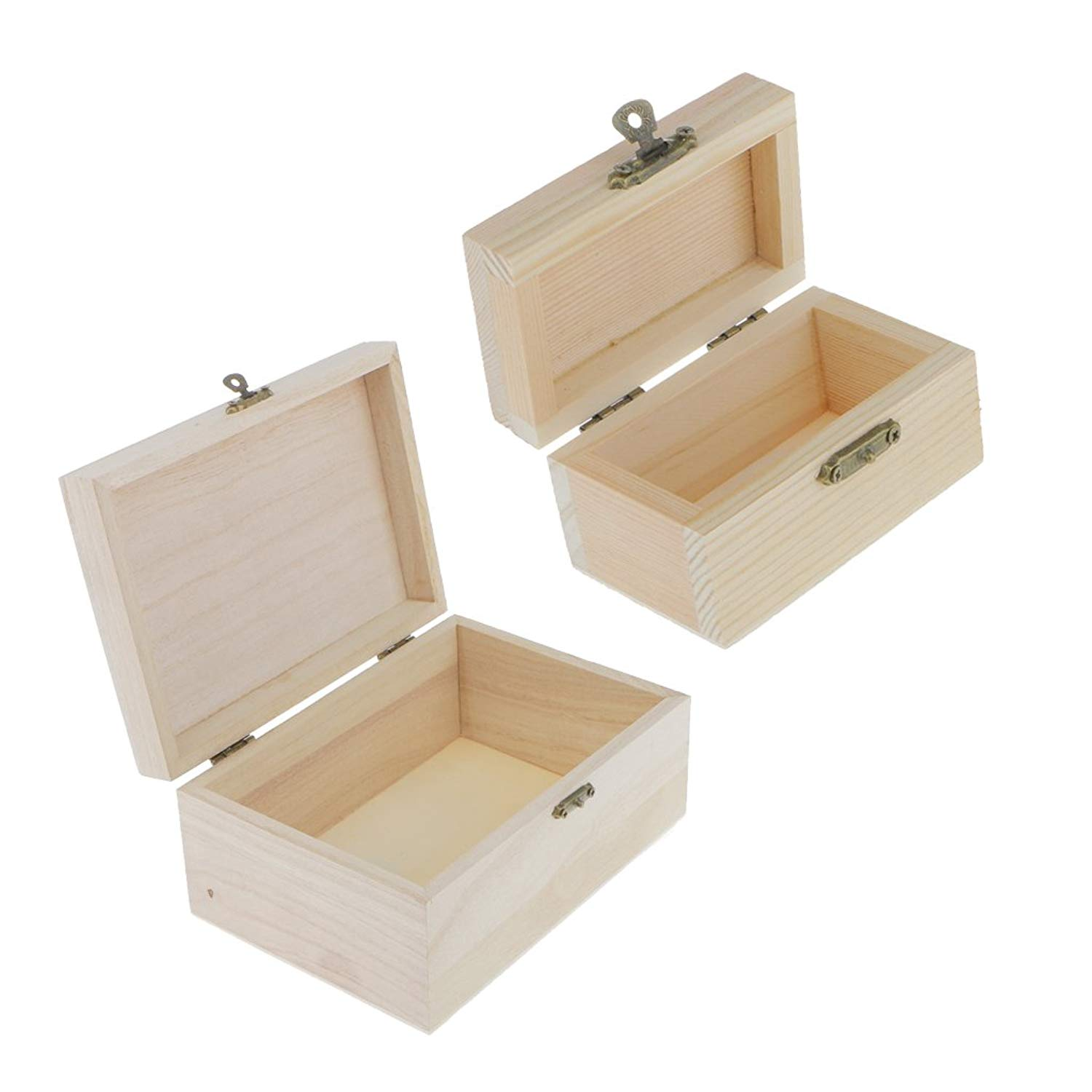Get Quotations SunniMix 10 Pieces Lot Chest Wooden Box For DIY Art Painting Crafts Kids Toy Storage