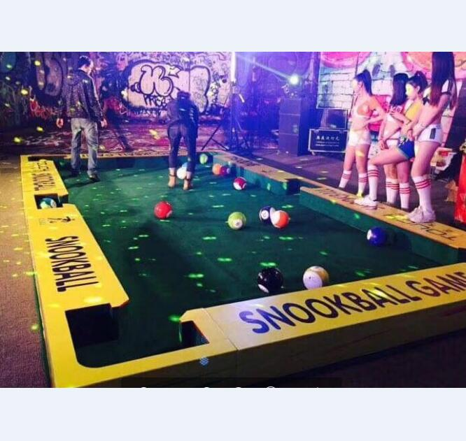 New Luxurious snookball game , human snook soccer billiard table for adult