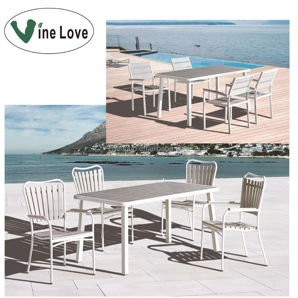 Venta al por mayor plástico blanco conjunto de muebles de jardín ...