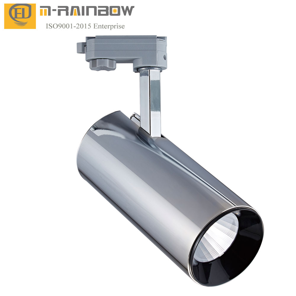 Exhibition hall led spotlight with guide rail lighting surface Suspension Recessed  35W 40W cob led track lamp