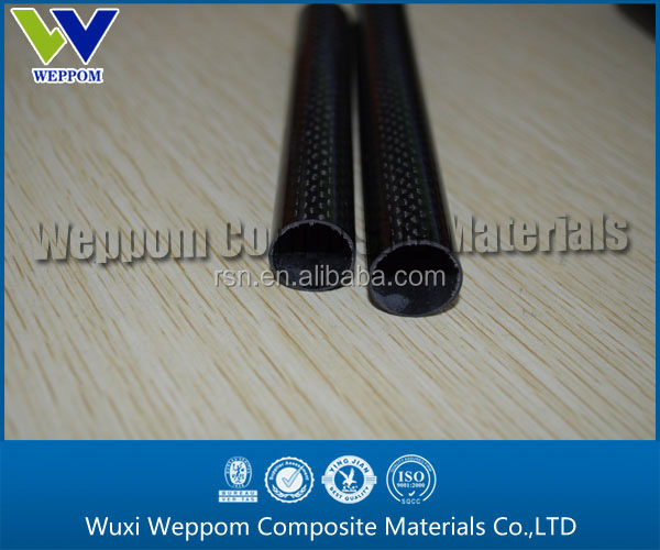 roll wrapped 3K twill/plain pattern carbon fiber tube 25mm 30mm 22mm 20mm 18mm large size 2m length