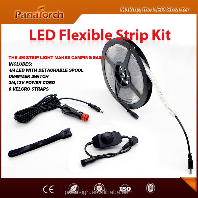 PanaTorch 4m 12V Cool White led strip light kit PS-F3524A accessories optional For Camping Recreational Vehicle
