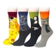 soft womans fashion organic cotton socks for woman ladies high quality bamboo polyester women art sock colorful happy cute socks