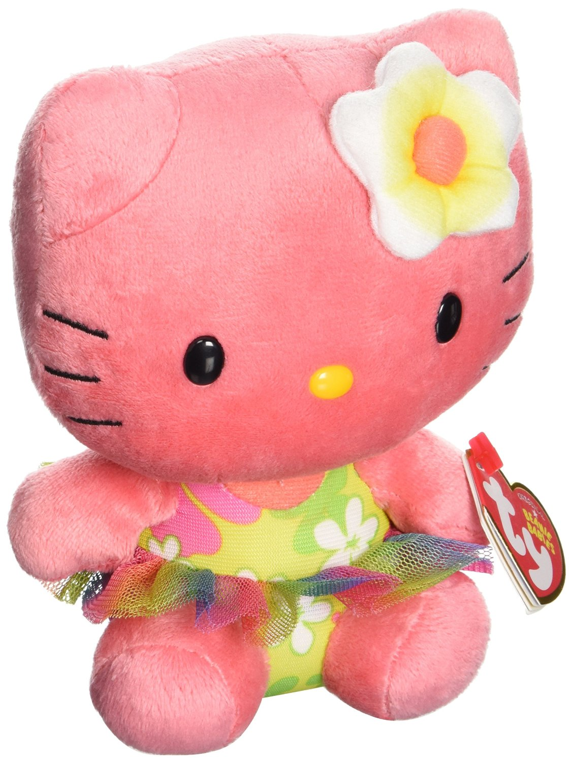 ec90d6084ea Get Quotations · Ty Beanie Babies Hello Kitty Rose Plush