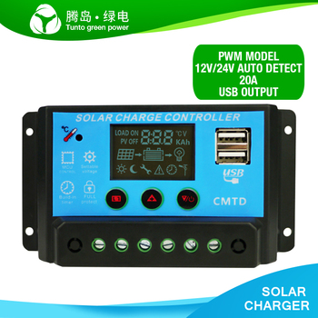 P20l lcd 20a pwm solar panel regulator charge controller with lcd.