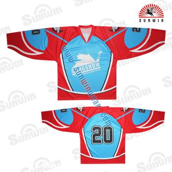 Sunwin Fashionable cheap team custom design national sublimation  sublimation cheap hockey jersey free shipping 3b8a7837a