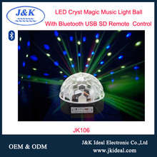 JK106 3 W LED Full Color Stage DJ Luce di Cristallo Luce Palla Magica altoparlante
