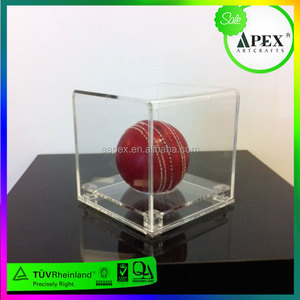 Clear Soccer Ball Display with Gold Risers
