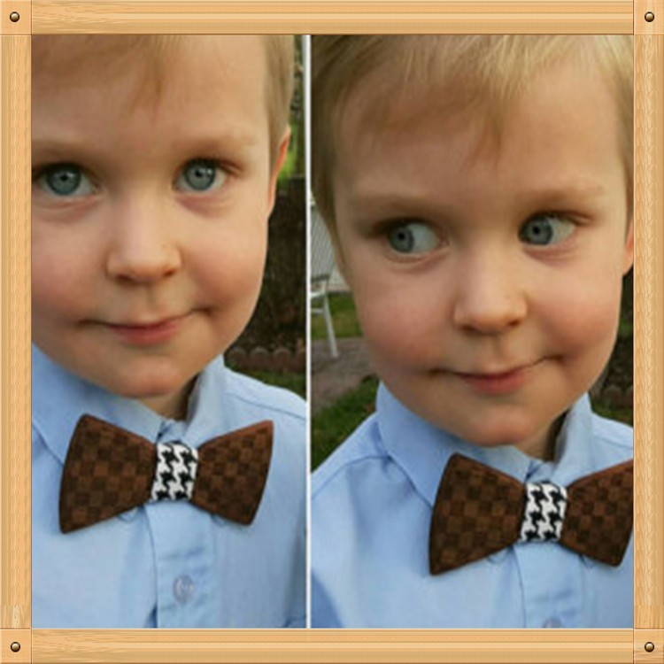 100% Handmade wooden bow tie for kids