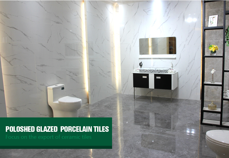 new design white glazed floor tiles with Black vein 400*800 full glazed polished porcelain floor tile