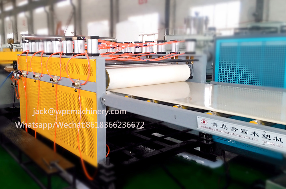 PVC wood plastic cabinets furniture panel production line