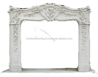 Insert White Marble Electric Fireplace