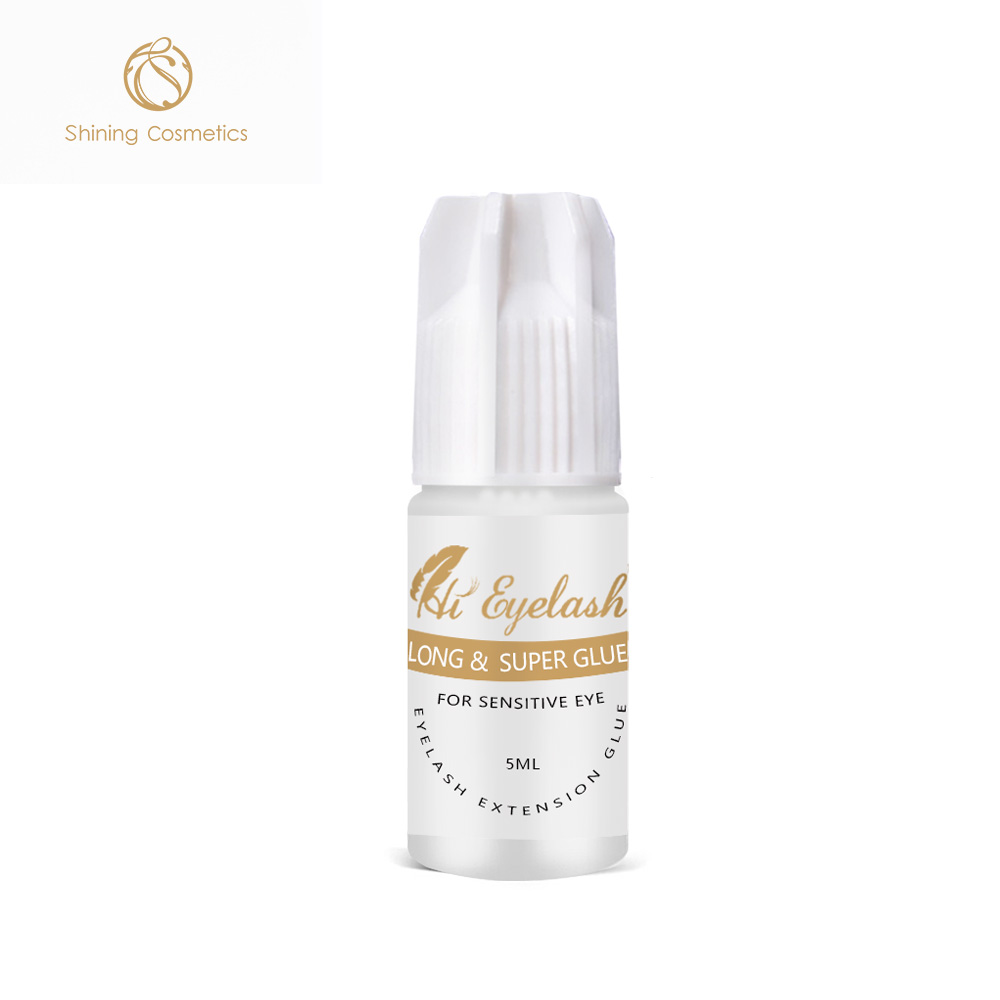 Hieyelash wholesale 5ml best sensitive eyelash extension glue from korea factory directly, Black eyelash extension glue