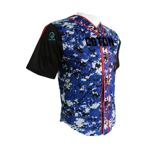customized sublimation camo never fade mens baseball wear