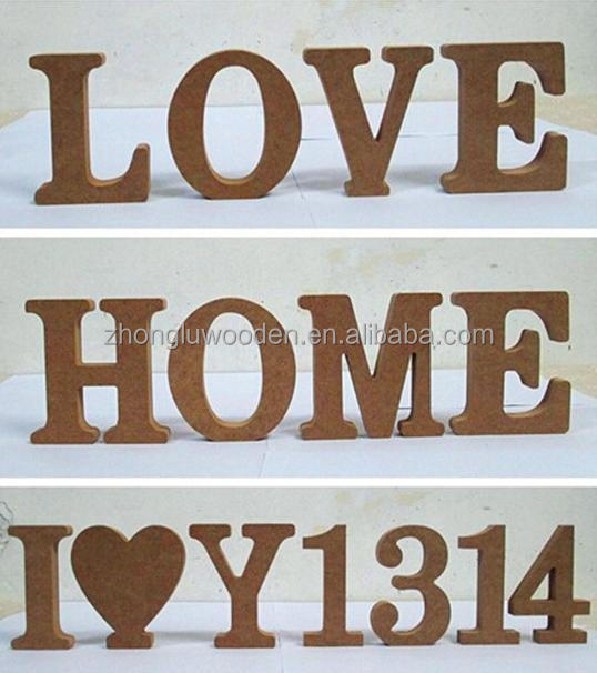 New Design Low Price High Quality Wooden Craft Letters
