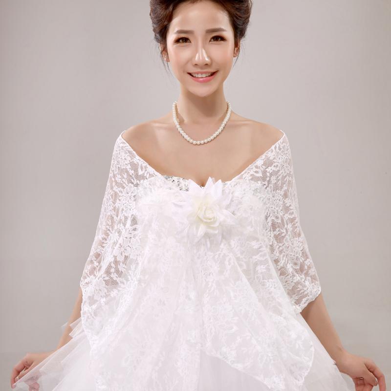 2017 women wedding dress lace flower shrug bolero coat bridal shawl wraps jackets from odeletta. Black Bedroom Furniture Sets. Home Design Ideas