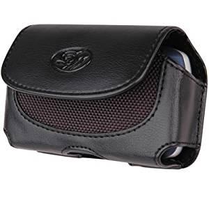 MOTOROLA CLIQ (T-MOBILE), A855 DROID (Verizon) , A555 DEVOUR (Verizon), Motorola i1 Black Horizontal Premium Faux Leather Pouch Cover Case With Belt Clip And Belt Loops.[WCDC]