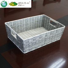 handmade plastic fruit basket OEM PP woven basket made in china