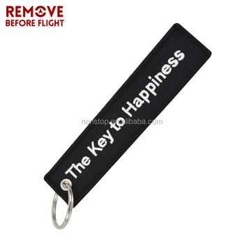 Make Your Own Logo ,New design hot selling custom embroidery keychain