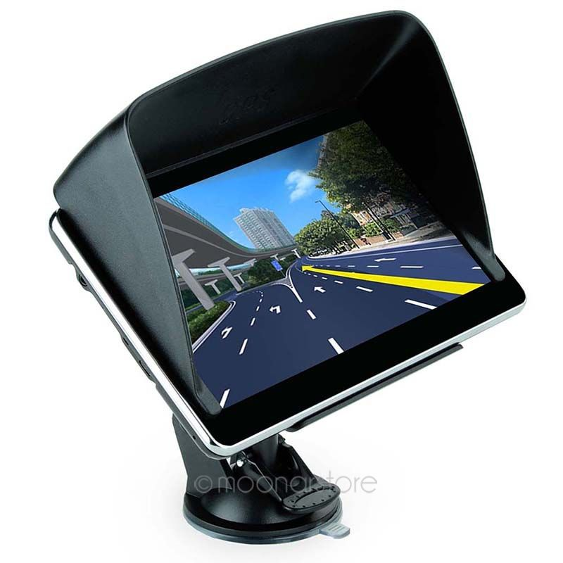 Cheapest! 7 inch auto GPS navigation 2015 European, American + Canadian Maps Speedcam POI with Sunshade A4DA1110-60