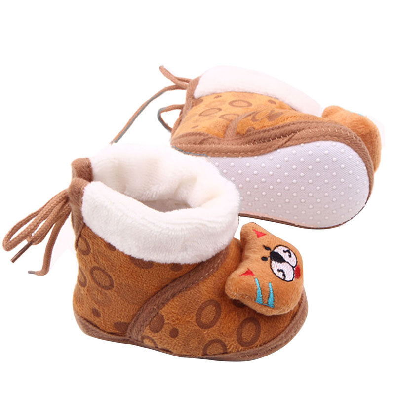 Toddlers Girl Super Soft Baby Shoes Newborn Boy Infant Animal Fleece Warm Boots 0 12 Months