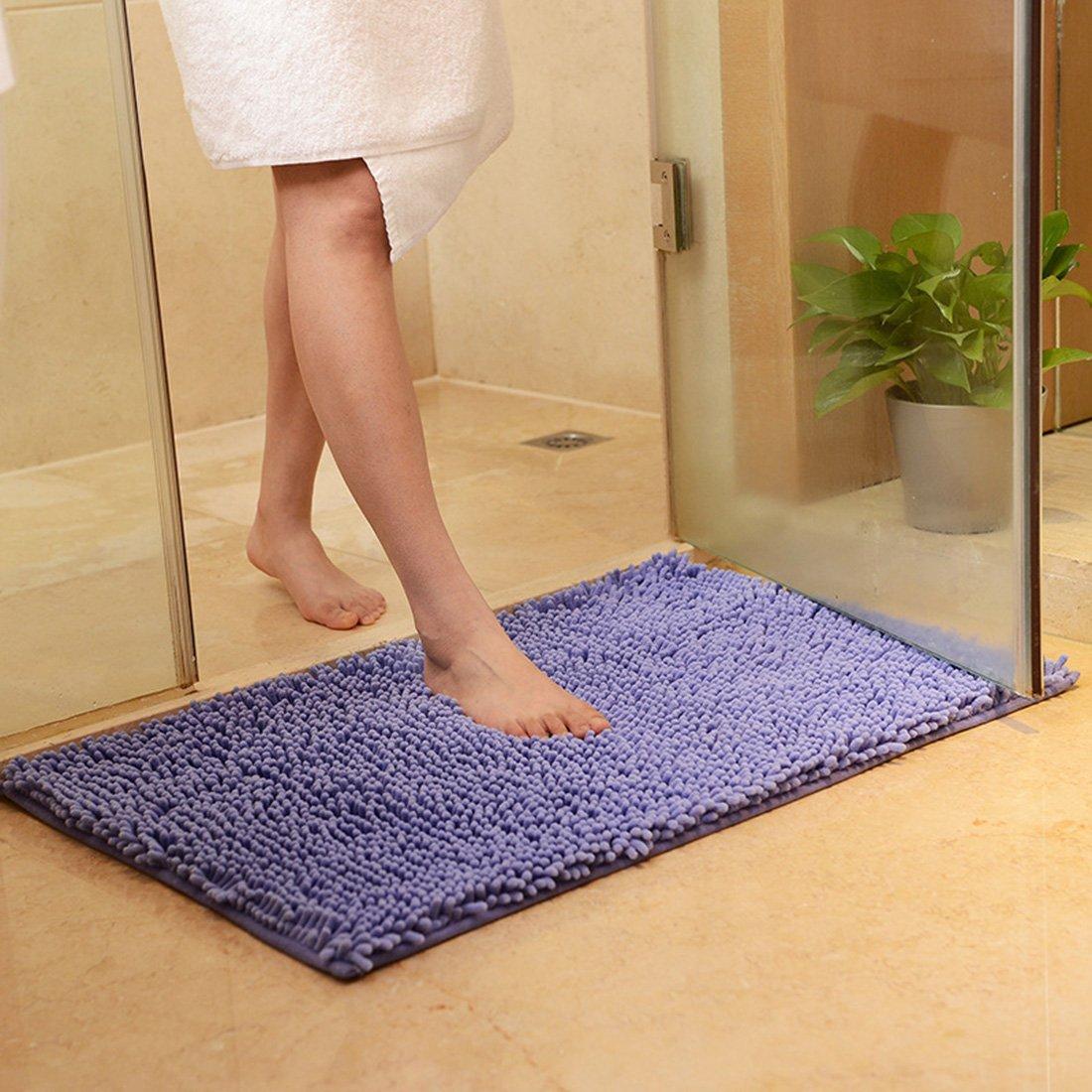 JTENGYAO Non-slip chenille fabric Shag Bathroom Mat, 19.6 x 31.4-Inches