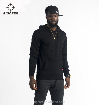 Men's Casual Pullover Hoodie Gray and Black Sport Hoodie with Fleece