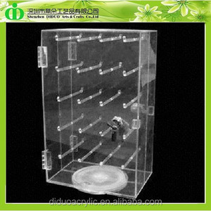 DDC-C044 Trade Assurance Rotating Acrylic Keychain Display Cabinet