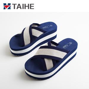 97bfef13af60 2018 fashion high heel wedge EVA slippers slide sandals for girls